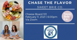 Chase the Flavor Donations-Based Class with Sweet Brie Co. @ Online Event